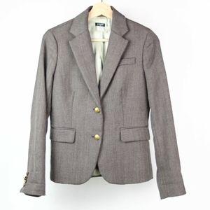 J Crew Womens Blazer Wool Blend Two Button Size 2
